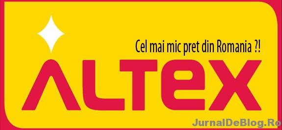 Altex, cel mai mic pret din Romania