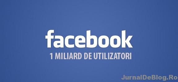 Facebook are 1 miliard de utilizatori