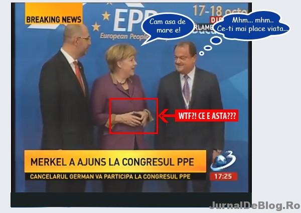 Acesta este gestul cu care Angela Merkel l-a socat pe Vasile Blaga la intalnirea PPE de la Bucuresti