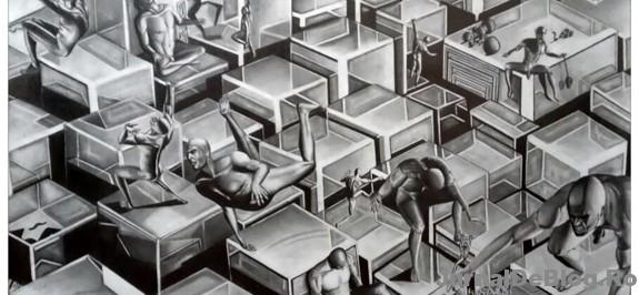Desen in creion, Vlad Cojocaru