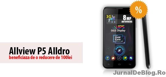 Allview P5 Alldro, un smartphone dual sim