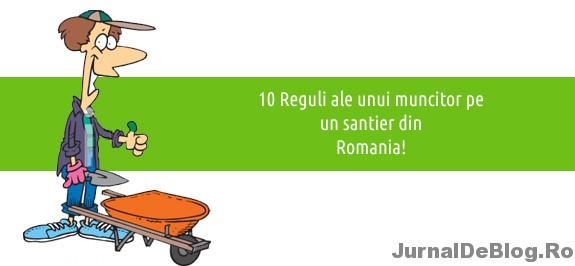 Regulile unui muncitor pe un santier din Romania